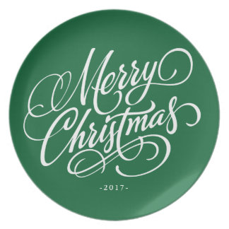 Merry Christmas Script - Choose Background Color Plate