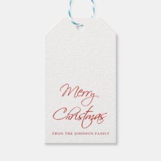 MERRY CHRISTMAS Script Custom Gift Tags