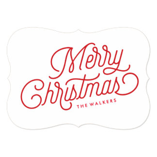 Merry Christmas Script Holiday Card