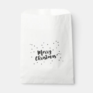 Merry Christmas - Script typography and stars Favour Bag