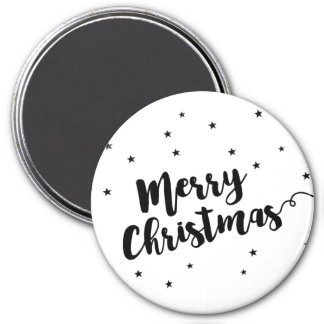 Merry Christmas - Script typography and stars Magnet