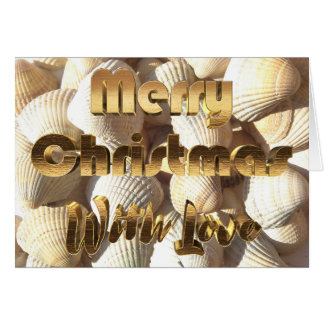 Merry Christmas Sea Shells Summer Tropical Beach Card