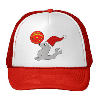 Merry Christmas Seal Hat