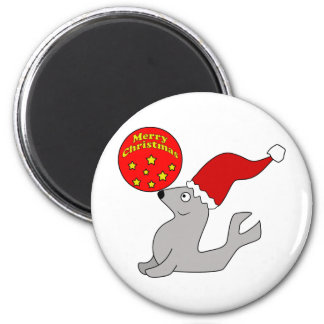 Merry Christmas Seal Magnet