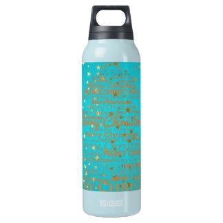 Merry Christmas Season Insulated Water Bottle