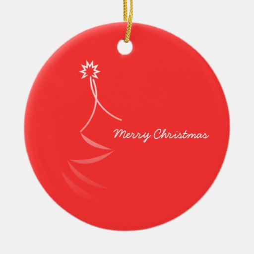 Merry Christmas Season's Greetings Ornament