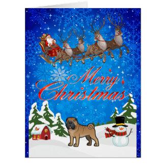 Merry Christmas Shar Pei Card