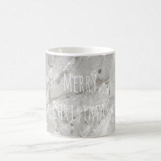 Merry Christmas Shiny Crystal White Coffee Mug