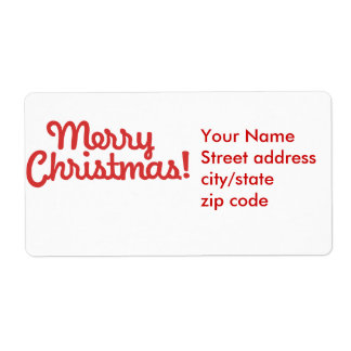 Merry Christmas Shipping Label