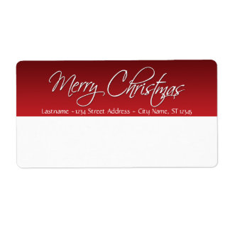 Merry Christmas Shipping Labels