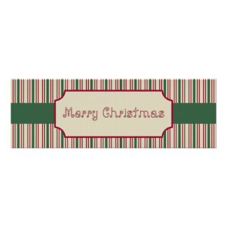 Merry Christmas Sign Poster