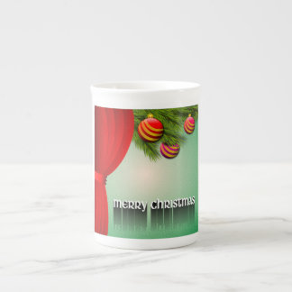 """MERRY CHRISTMAS"" SIGN TEA CUP"