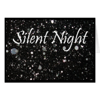 Merry Christmas, Silent Night, snowflakes Greeting Card