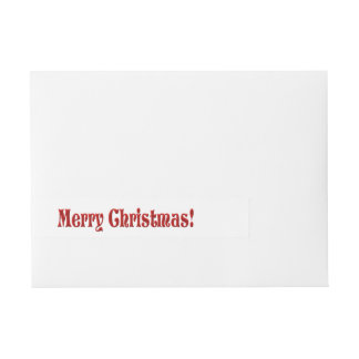 Merry Christmas Simple Hand Lettered Wraparound Address Label
