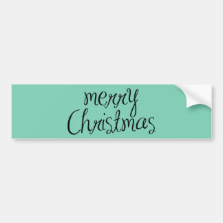 Merry Christmas - simple Handwritten Text Design Bumper Sticker