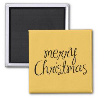 Merry Christmas - simple Handwritten Text Design Fridge Magnet