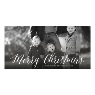 Merry Christmas Simple Script Holiday Photo Card