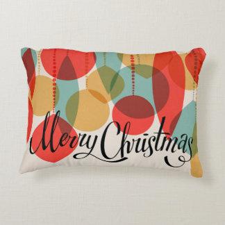 Merry Christmas simplified retro ornaments Decorative Cushion