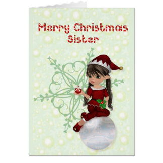 Merry Christmas Sister Card