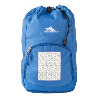 Merry Christmas Sketches Pattern Backpack