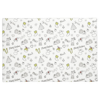 Merry Christmas Sketches Pattern Doormat