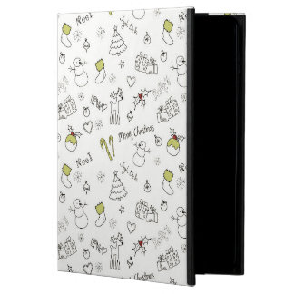 Merry Christmas Sketches Pattern iPad Air Case