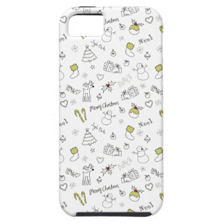 Merry Christmas Sketches Pattern iPhone 5 Cover