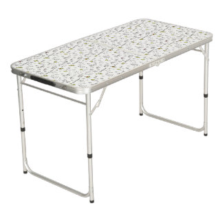 Merry Christmas Sketches Pattern Pong Table