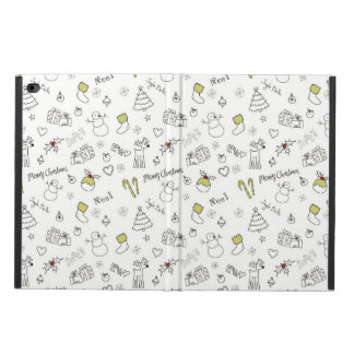 Merry Christmas Sketches Pattern Powis iPad Air 2 Case