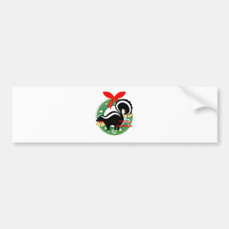 merry christmas skunk bumper sticker