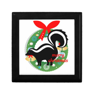 merry christmas skunk gift box