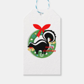 merry christmas skunk gift tags