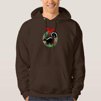 merry christmas skunk hoodie