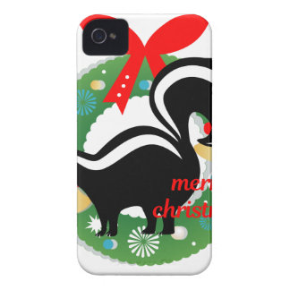 merry christmas skunk iPhone 4 case