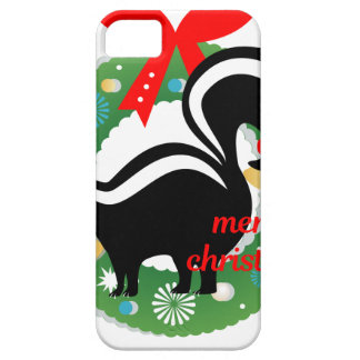 merry christmas skunk iPhone 5 cover