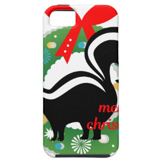 merry christmas skunk tough iPhone 5 case