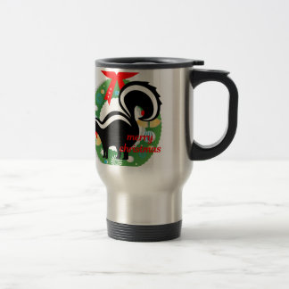 merry christmas skunk travel mug