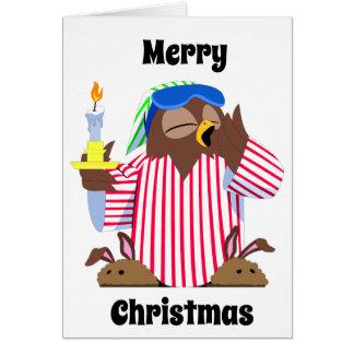 Merry Christmas Sleepy Owl Card