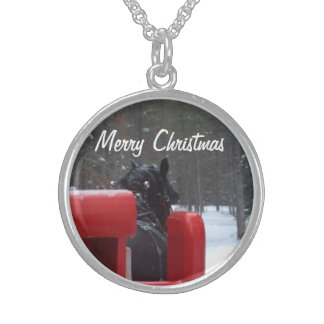 Merry Christmas Sleigh Ride Necklace