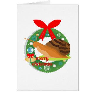 merry christmas snail card