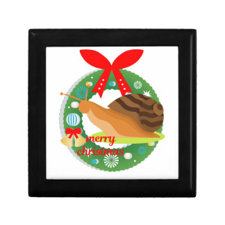 merry christmas snail gift box
