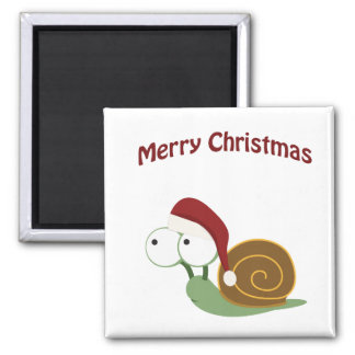 Merry Christmas Snail Magnets