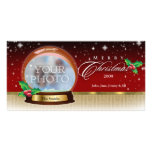 Merry Christmas Snow Globe Customisable 6 Picture Card