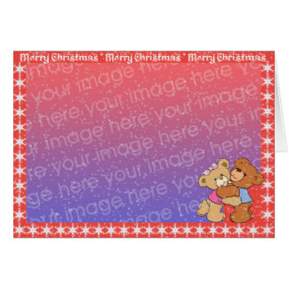 Merry Christmas - Snow Is Falling Greeting Card
