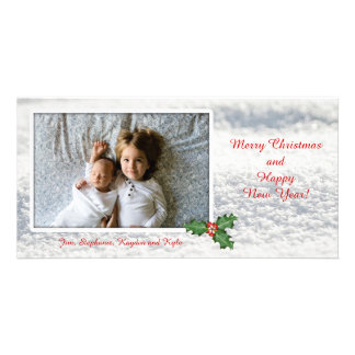 Merry Christmas Snow Photo Template Card