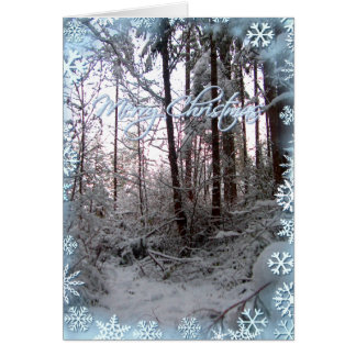 MERRY CHRISTMAS SNOW SCENE by SHARON SHARPE Card