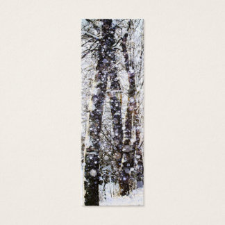 Merry Christmas Snow Trees Bookmark Card
