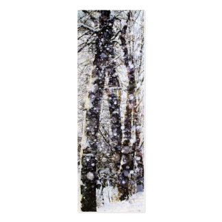 Merry Christmas Snow Trees Bookmark Card Business Cards