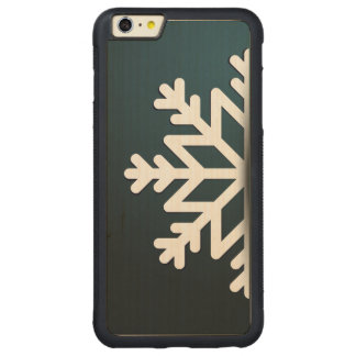 Merry Christmas Snowflake Blue Carved® Maple iPhone 6 Plus Bumper Case