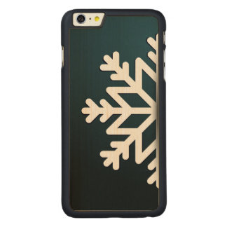 Merry Christmas Snowflake Blue Carved® Maple iPhone 6 Plus Case